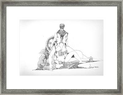 Faces Bodies And Other Forms Framed Print by Padamvir Singh