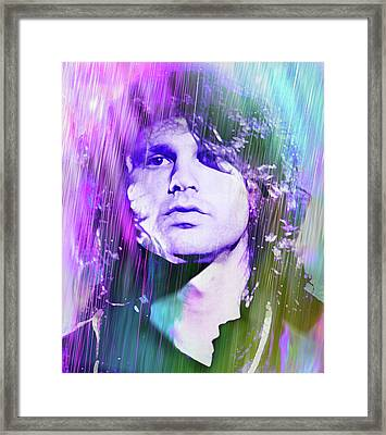 Faces Come Out Of The Rain Framed Print by Mal Bray