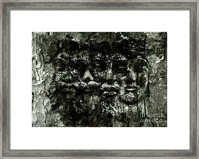 Faces Framed Print