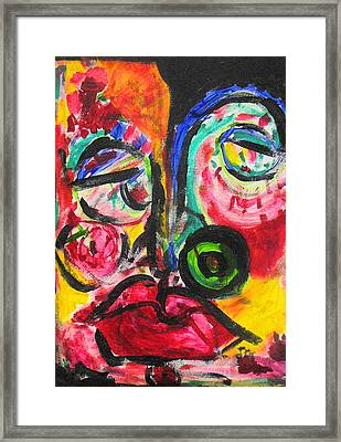 Faces II Framed Print