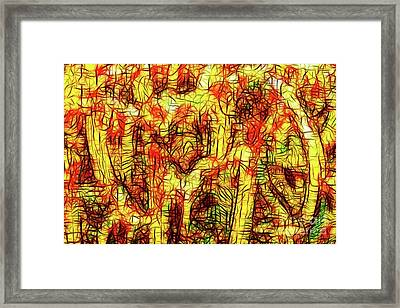 Faces In The Crowd Framed Print by Wingsdomain Art and Photography