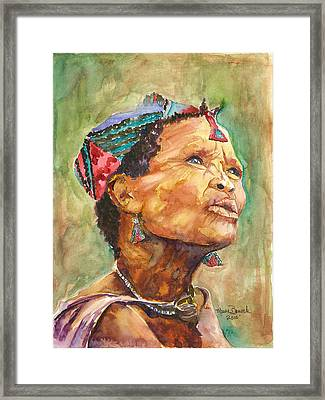 Framed Print featuring the painting Faces Of Africa by P Maure Bausch