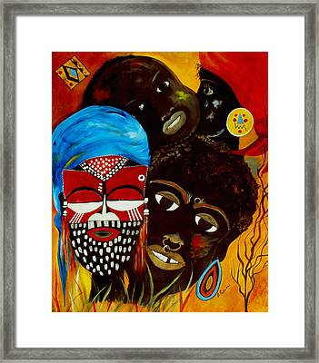 Faces Of Africa Framed Print by Ruth Palmer