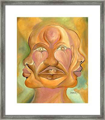 Faces Of Copulation Framed Print by Ikahl Beckford