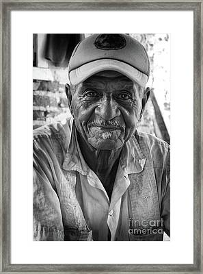 Faces Of Cuba The Gentleman Framed Print by Wayne Moran