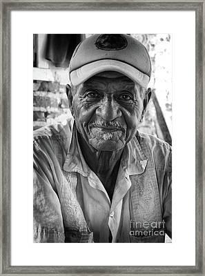 Faces Of Cuba The Gentleman Framed Print by Wayne Moran