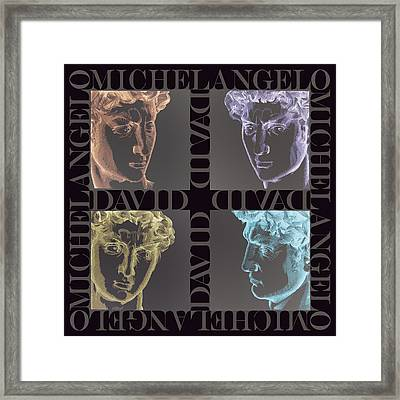 Faces Of David In Negative Framed Print by Barbara Lugge