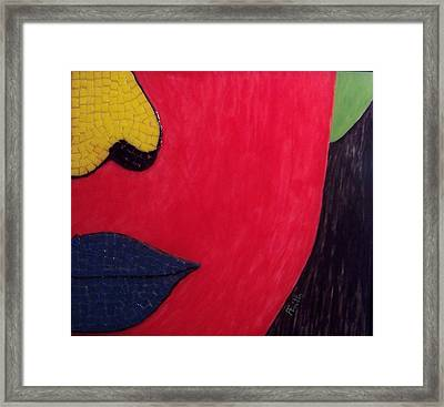 Faces Of Eve Iv Framed Print by Anneliese Fritts