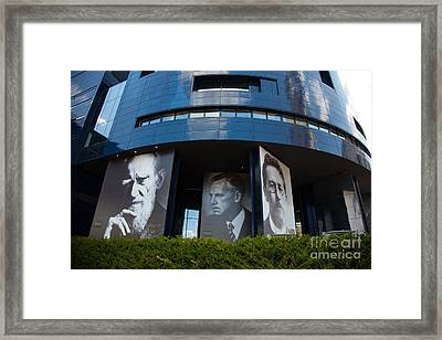 Faces Of Guthrie Theater Minneapolis Framed Print by Wayne Moran