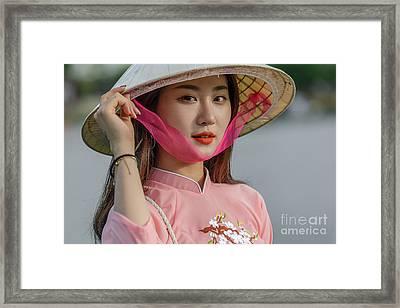 Faces Of Hoian - 04 Framed Print