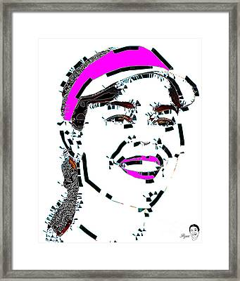 Faces Of Life 25 Ana Ivanovic Framed Print by Dalon Ryan