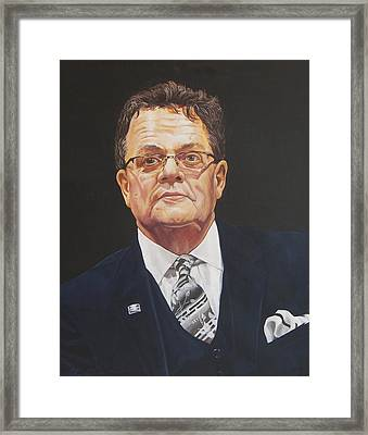 Faces Of Oroville - Jim Moll Framed Print by Kenneth Kelsoe