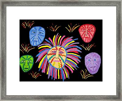 Faces Out Of The Dark  Framed Print by Betty  Roberts
