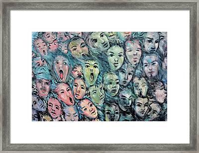 Faces Streetart Berlin Framed Print