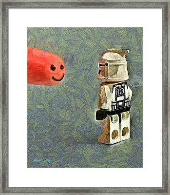 Facetrooper - Pa Framed Print by Leonardo Digenio