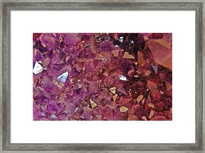 Facets Framed Print by Jean Booth