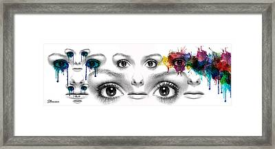 Facial Expression Framed Print by Solomon Barroa