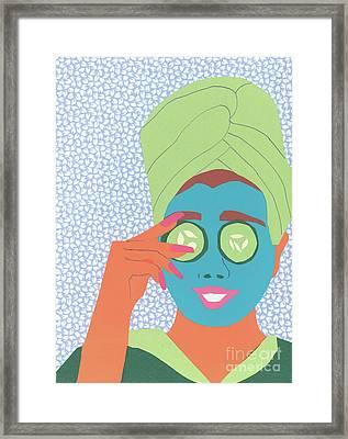 Facial Masque Framed Print
