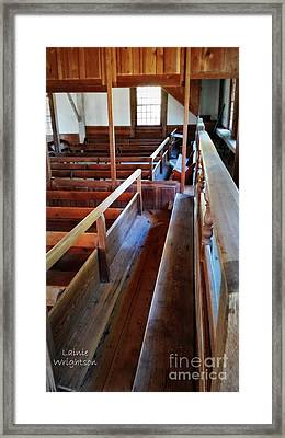 Facing Bench Framed Print