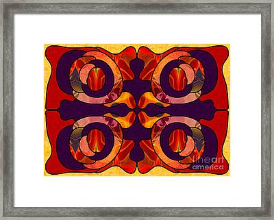 Facing Darkness Abstract Art By Omashte Framed Print by Omaste Witkowski