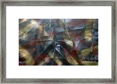 Facing Demons Of Demise Framed Print by Paula Andrea Pyle