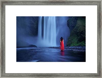 Framed Print featuring the photograph Facing Fear Head-on by Peter Thoeny