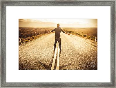 Facing Fears While Taking Chances Framed Print
