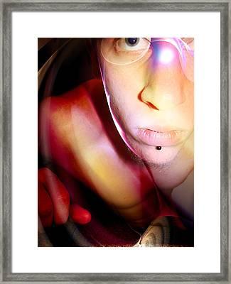 Facing In Framed Print