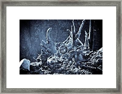 Facing The Enemy II Framed Print by Marc Garrido