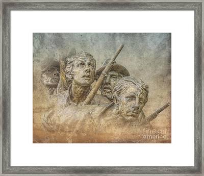 Facing The Fire Gettysburg Framed Print