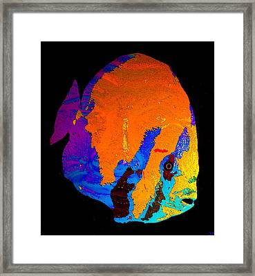 Framed Print featuring the painting Facing The Fish by David Lee Thompson