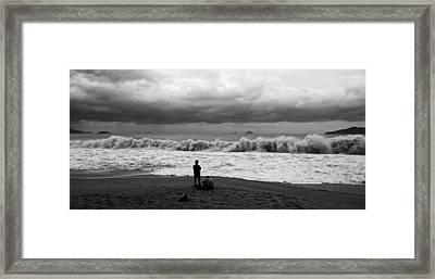 Facing The Storm Framed Print by Kim Lagerhem