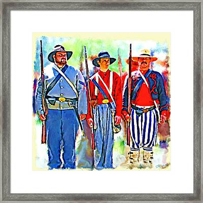 Facing The Yanks Framed Print by Tim Tompkins