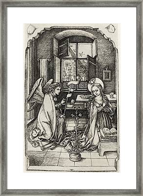 Facsimile Of The Annunciation To The Framed Print by Vintage Design Pics