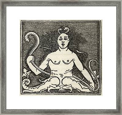Facsmile Of The Figure Of Medusa From Framed Print by Vintage Design Pics