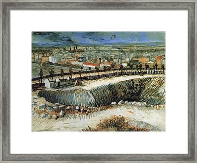 Factories, Outskirts Of Paris, Near Montmartre, 1887 Framed Print by Vincent Van Gogh