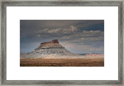 Framed Print featuring the photograph Factory Butte by Dan Mihai