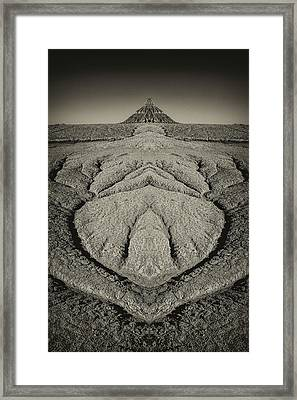 Factory Butte Digital Art Framed Print