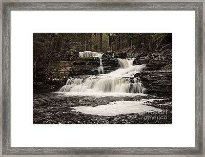 Factory Falls Framed Print by Debra Fedchin