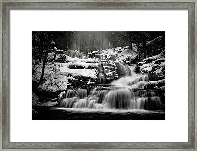 Framed Print featuring the photograph Factory Falls In Winter by Chris Lord