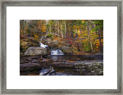Framed Print featuring the photograph Factory Falls by Mark Papke