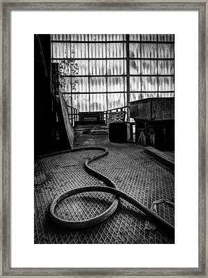 Factory Hall Tubing - Industrial Decay Framed Print