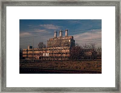 Factory Outside Budapest Framed Print