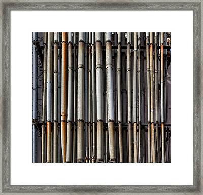 Factory Pipes Framed Print by Robert Ullmann