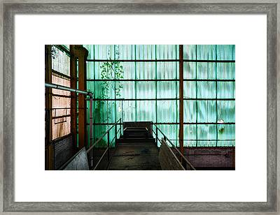 Factory Wall - Industrial Decay Framed Print
