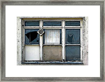 Framed Print featuring the photograph Factory Windows by Ethna Gillespie