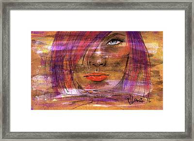 Framed Print featuring the painting Fadding Away by P J Lewis