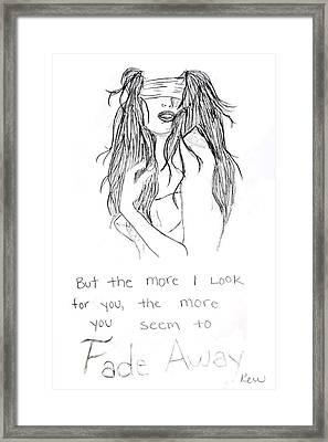 Fade Away Framed Print