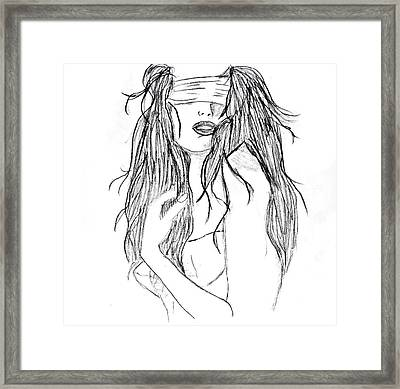 Fade Away Without Words Framed Print