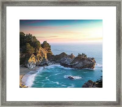 Fade To Paradise Framed Print by Peter Irwindale